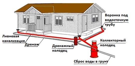 Общая схема дренажной системы