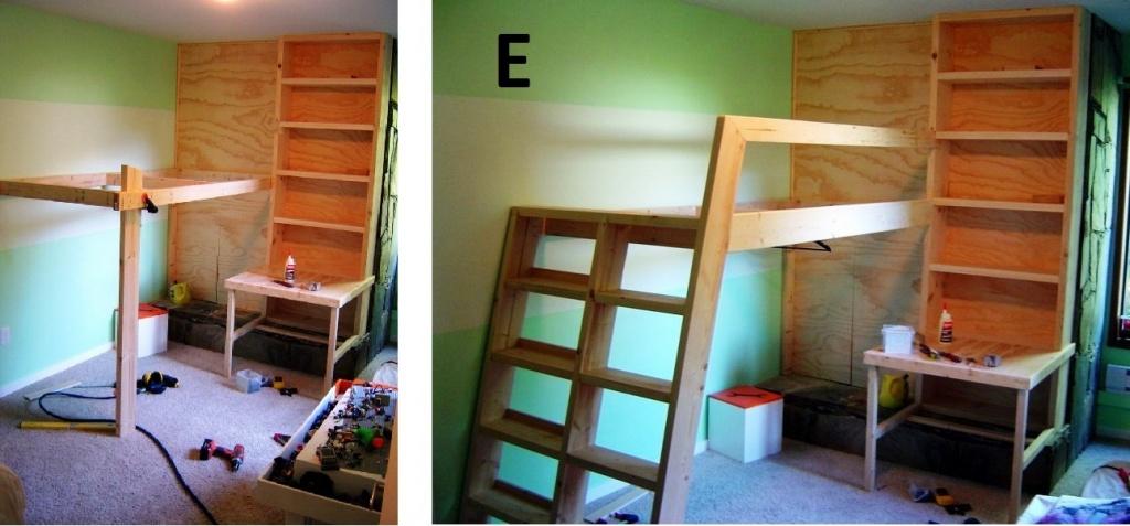 Кровати на втором этаже своими руками
