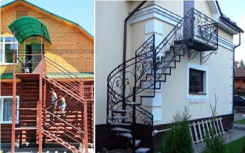 наружная лестница на мансарду фото